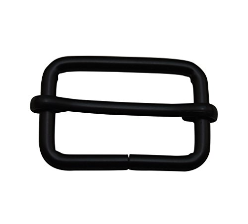 Ailisi Metal Black Rectangle Buckle with Slider Bar 1.25