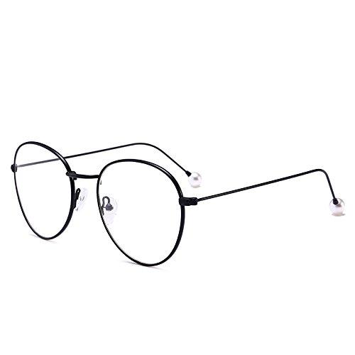Gafas Plano Popular Decoración Marco RyimsD Individualidad Moda Miopía Redondo Gafas Creativo C2 Clásico Marea Espejo Retro C3 77wRt6vq