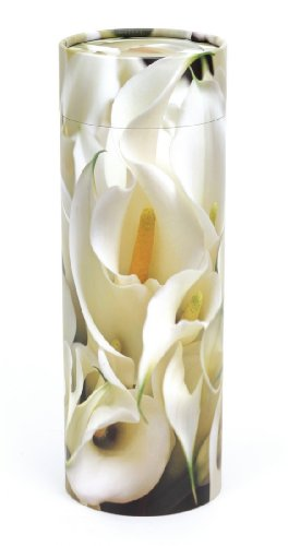 Urns UK Scattering Ashes Tube Peace Lilies, Medium, 120 Ci