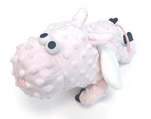 Flying Pig Toy (goDog Bubble Plush Flying Pig with Chew Guard Technology Durable Plush Squeaker Dog Toy, Large, Soft)