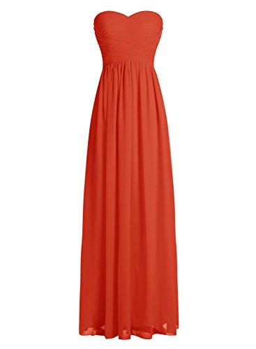 Dressystar Robe de demoiselle d'honneur/de soirée longue formelle Taille 58 Rouge