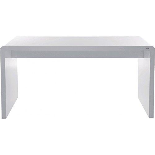 Designer Schreibtisch Weiß kare design schreibtisch weiß white hochglänzend 150x70 cm