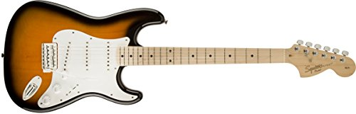 Squier by Fender Affinity Stratocaster Beginner Electric Guitar - Maple Fingerboard, 2-Color Sunburst -