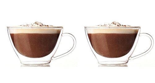 23. Lily's Home Glass Double Wall Cappuccino Mugs