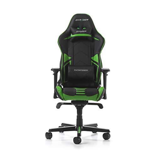 DXRacer Racing Pro R131-NE - Silla para Gaming (Cuero sintético, 56 x 65 x 138 cm), Color Verde: Amazon.es: Hogar
