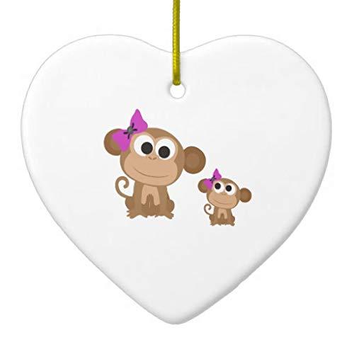 Vehfa Decorations Personalized Ornament Mini Me Monkey Ceramic Ornament