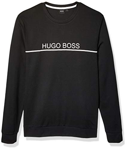 Hugo Boss BOSS Men's Tracksuit Crewneck Lounge Sweatshirt, Black, M