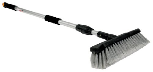 Camco RV Flow Through Wash Brush With Adjustable Handle And Integrated Squeegee (43633)