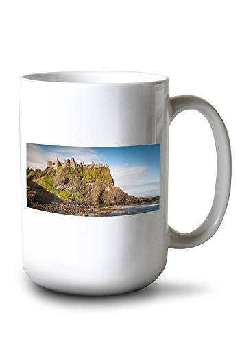 - Lantern Press Ireland - Dunluce Castle - Photography A-92052 (15oz White Ceramic Mug)