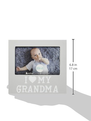 Pearhead I Love Grandma Keepsake Photo Frame and Baby Belly Sticker Gift Set, Gray by Pearhead (Image #7)