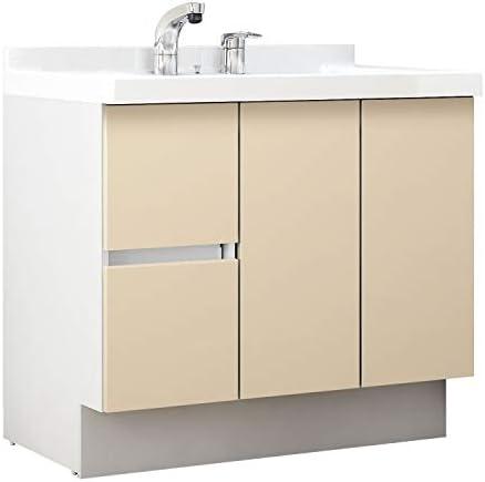 イナックス(INAX) 洗面化粧台 J1プラスシリーズ 幅90cm 片引出タイプ シングルレバーシャワー水栓 J1HT905SYYL2H 一般地用 シカモアベージュ(YL2H)