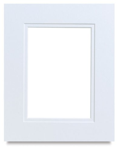 White on White Double Photo Mat 28x40 for 24x36 Posters - Fits 28x40 Frame
