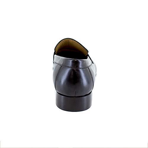 Noir Mocassin J Jb bradford cobre Cuir 414Aq7