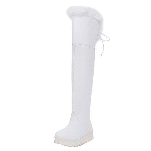 Women Boots Winter White Knee COOLCEPT PaqRdAXPn