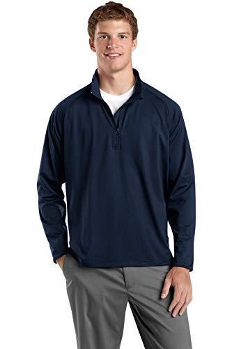 Sport-Tek Men's Sport Wick Stretch 1/2 Zip Pullover L True Navy