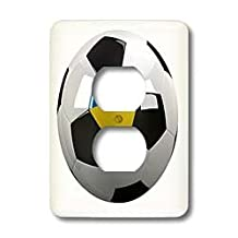 3dRose LLC lsp_157033_6 Soccer Ball with The National Flag of Ukraine On It Ukrainian 2 Plug Outlet Cover
