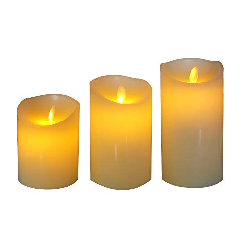Realistic Flameless LED Electric Candles Battery Operated Tea Light for Party Thanksgiving Festival Celebration 3pcs (White) - Candle China