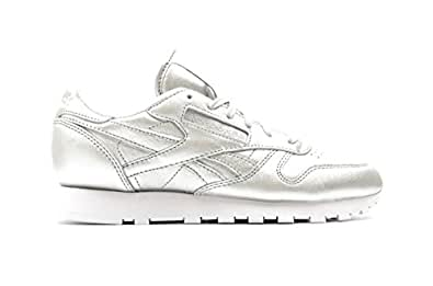 Reebok X face Stockholm Women's Classic Leather Spirit Silver Presence/White V62700 (SIZE: 8.5)