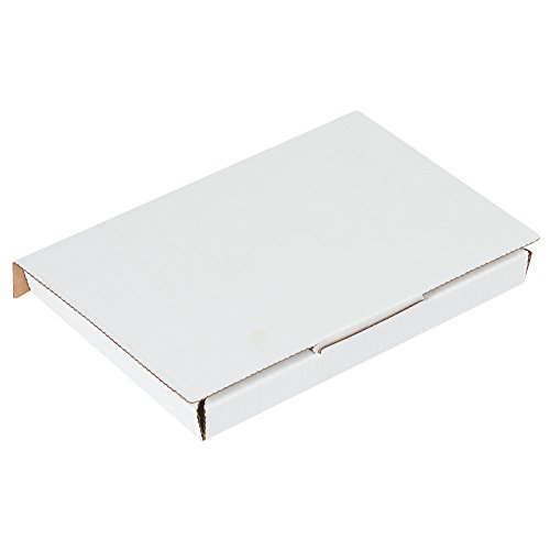 Mailer Dvd Case - Boxes Fast BFMLRDVD Corrugated Cardboard DVD Mailers, 7 5/8 x 5 7/16 x 11/16 Inches, One-Piece, Die-Cut Shipping Boxes, Capacity 1 DVD, Small White Mailing Boxes (Pack of 50)