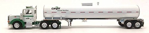 Cargill Peterbilt 367 Cab Truck Food Animal White Tanker Trailer TONKIN 1/87 HO Miniature