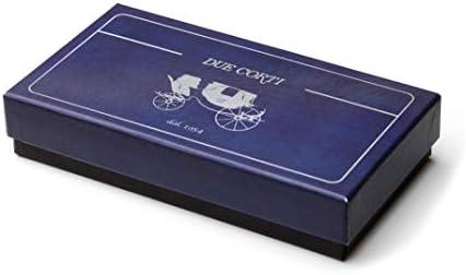 Due Corti Noeud papillon pour homme pr/é-nou/é et r/églable en satin uni Couleurs pour costume de mariage smoking emballage cadeau