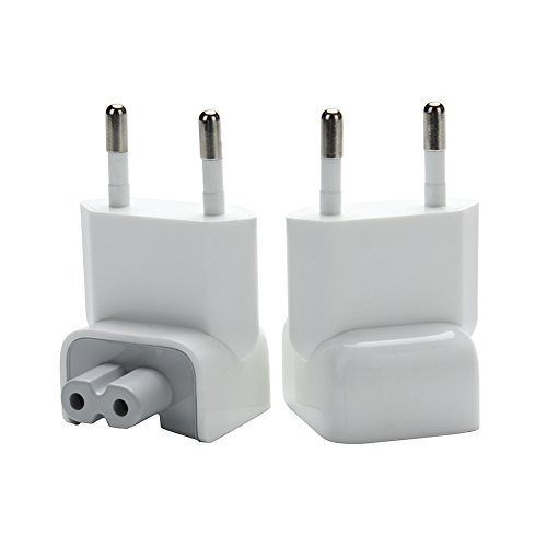 - WESAPPINC Pack of 2 Duckhead Europe Wall Charger AC Cord EU Standard Duck Head Plug for MacBook Mac iBook/iPhone/iPod AC Power Adapter (EU Standard)