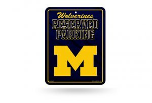 - NCAA Michigan Wolverines High-Res Metal Parking Sign
