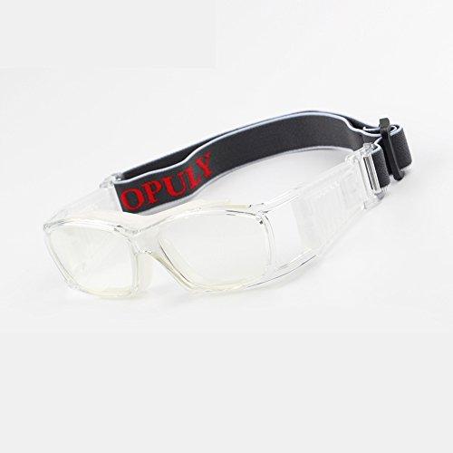 Lunettes de basket-ball vintage Slimfit Lunettes de sport de sécurité de protection transparent