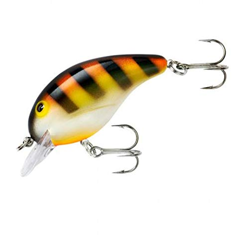 Bandit 107SC 100 Series 1/4-Ounce Crank Bait Fishing Lure, Yellow, Orange and Mint Finish