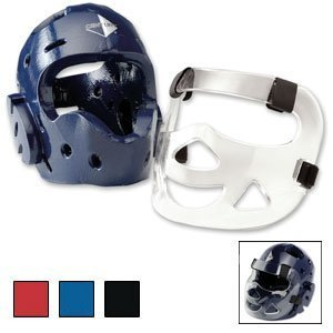 Century Full Head Gear with Face Shield-Red Adult Medium