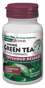 Herbal Actives Extended Release Green Tea 750 mg Nature's Plus 30 (750 Mg 50 Tabs)