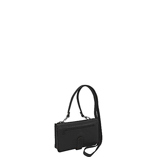 Derek Alexander Deluxe Clutch with Detachable Strap Messenger Bag, Black by Derek Alexander Leather