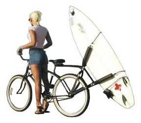 Block Surfboard Bike Rack - Rear