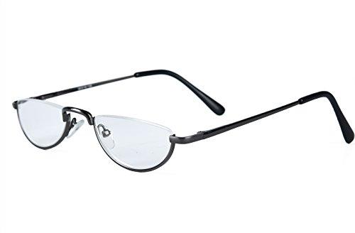 Agstum Half Moon Readers Spring Hinge Reading Glasses Single Vision (+1.75, - Moon Glasses Half Vintage Reading