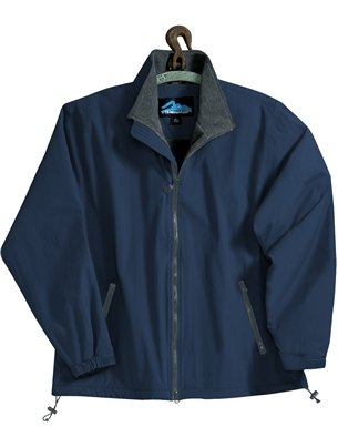(Premium Quality Men's Tall Sizes Toughlan Nylon Patriot Jacket - Navy/Charcoal, 2XLT)