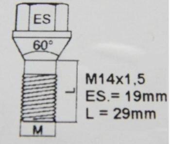 Citroen Jumper Relay Heyner Rad Befestigungsschrauben OEM M14/x 1,5/alle Modelle