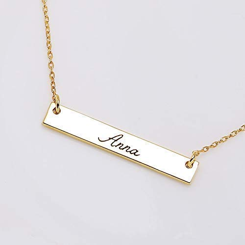 d97bd105b Image Unavailable. Image not available for. Color: Graceful Rings Gix  Minimalist Custom Name Necklace ...