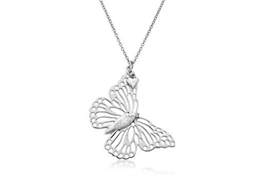 LILY & Lotty-Scarlet-Collier Femme-Argent 925/1000-Diamant 0.01Cts