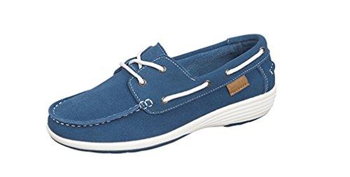 Boulevard Femme Chaussures Bateau Pour Bleu OfPOqwUWSx
