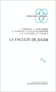 La Faculté de juger par Colloque Centre culturel international