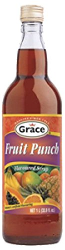 GRACE FRUIT PUNCH SYRUP (FLAVORED SYRUP) 25.5 OZ