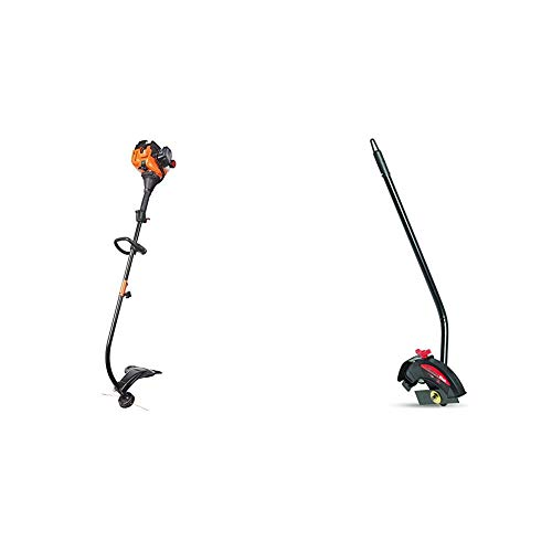 Remington RM2520 Wrangler Curved Shaft Gas String Trimmer and Dual Edger Attachment