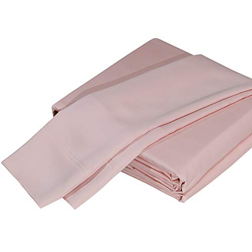 DTY Bedding Premium 100% Organic Bamboo Viscose 4-Piece King Bed Sheet Set, Luxuriously Soft and Comfortable, Oeko-TEX Certified Bamboo Sheets, Fits Mattresses up to 18 in - King, Pale Rose ()