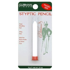 Pinaud Clubman styptic pencil for nick relief - 0.33 oz, (Pack of 4) A. I. I. Clubman.
