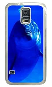 Dolphins in the Blue Sea Samsung Galaxy S5 Hard Shell with Transparent Edges Cover Case by Lilyshouse by mcsharks