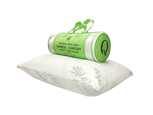 Delighter Shredded Memory Foam Bed Pillow With Washable Pillow Case, Support And Neck Pain Relief (Queen)