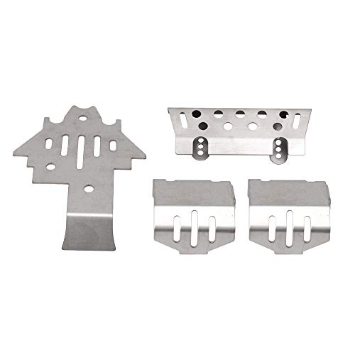 Kit Chassis Armor - Homeswitch RC1:10 Stainless Steel Chassis Armor Skid Plate Kit for Traxxas TRX-4 TRX4