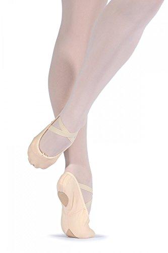 Leo Ballettschuhe mit überkreuzten Gummibänder L 1.5 Rosa