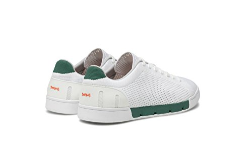 SWIMS Men's Breeze Tennis Knit Sneakers for Pool and Summer White/Court Green clearance ebay discount new arrival u1CJT0jCSJ
