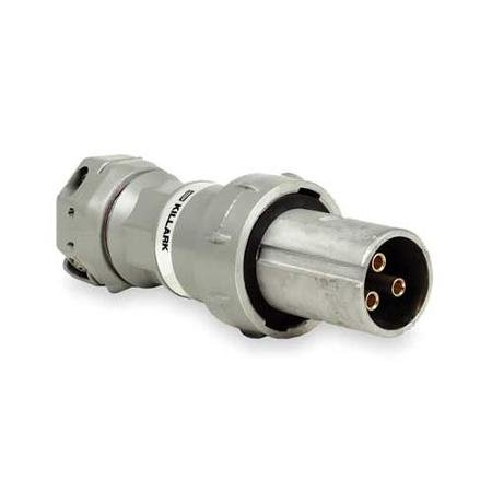 Killark VP3485 Pin and Sleeve Plug, 3 Wire, 4 Pole, 30 Amp, 600V, Copper-Free Aluminum